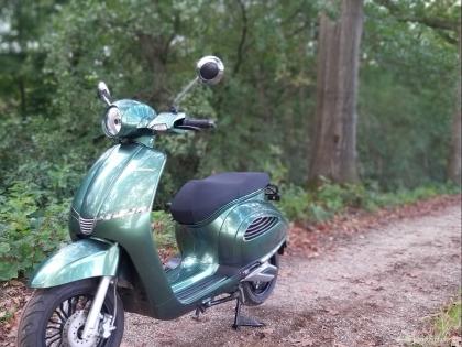 De Shiwei elektrische scooter.